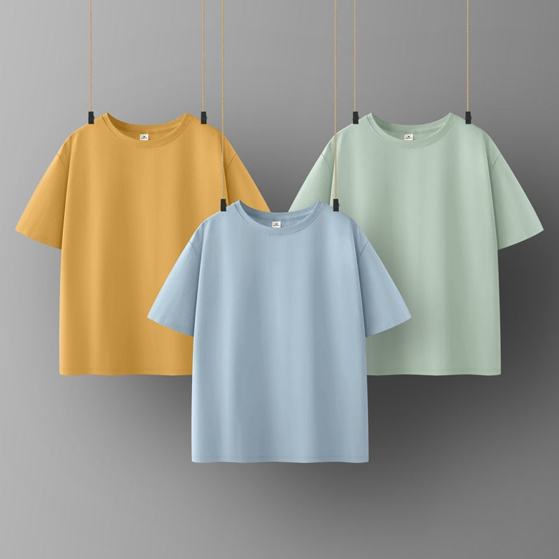 Cotton Women T-shirt O-neck Short Sleeve women shirt All match Lady Top Black White Gray Yellow Shirt