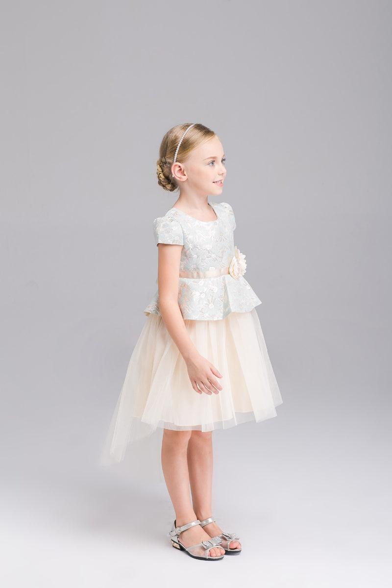 3-10 years Teenage Baby Girls Princess Dress Spring Summer Corduroy Big Flower Ball Gown Dress Kids Party Birthday Dress