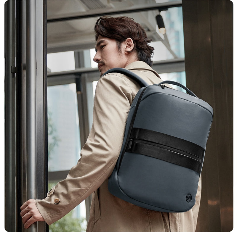 Manhattan Business Lecture Backpack for Men and Boys Modern Luxury Laptop Travel