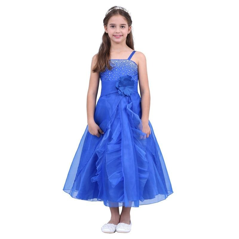 Flower Dress For Girls Spaghetti Straps Party Dress Children's Girls Princess Pageant Wedding Gown Vestidos Kids Ball Gown Prom