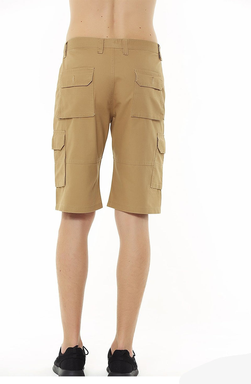 Cotton Knee Length Man Casual Chino Short Pants Solid Straight Summer Khaki Black Army Green Men Cargo Shorts