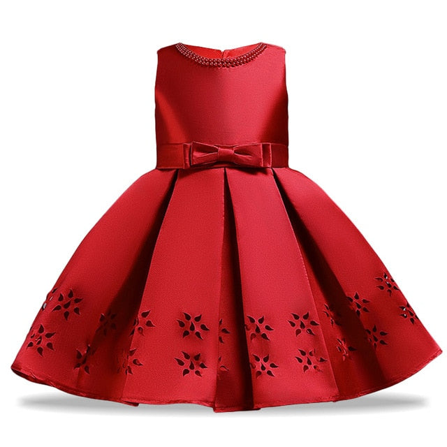 Children Pageant Ball Gown Kids Dresses For Girls Wedding Flower Girls Dress Toddler Girls Elegant Princess Birthday Party Dress