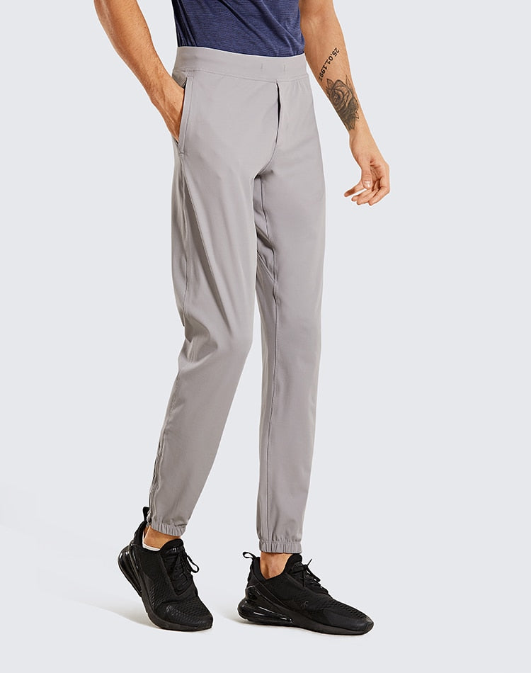 Men's Lightweight Elastic Stretchy Pants with Side pockets - 29 inches