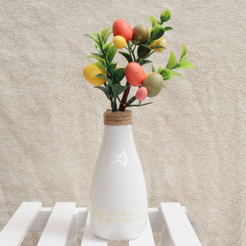 Easter  Egg Tree Decor Plastic Plants Branch With Colorful Painting Eggs Easter Festival Party Decoration