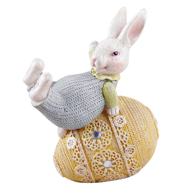 Easter Cute Bunny Egg Cute Resin Craft Safe And Durable Children's Room Girls Living Room Decoration