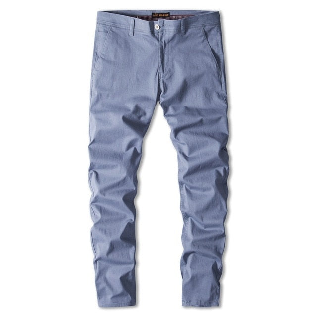 Casual Cotton Men Trousers Solid Color Slim Fit Men's Pants New Spring Autumn High Quality Classic Business Pants Men