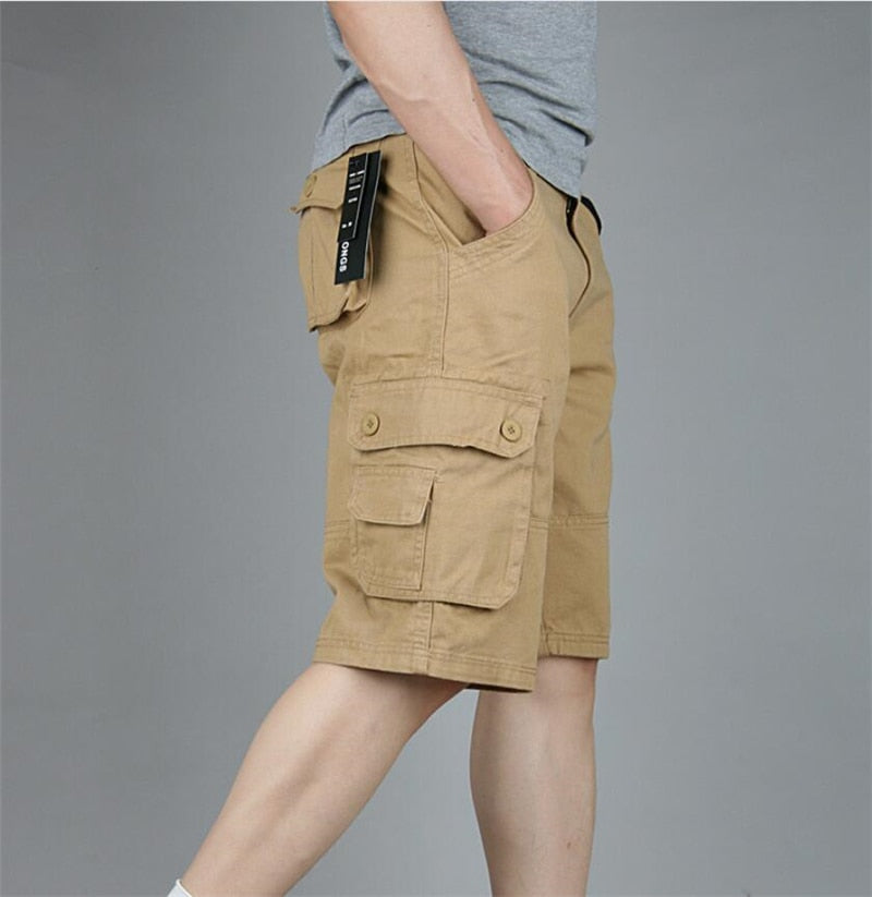 Cargo Shorts Men Summer Casual Military Tactical Shorts Casual Multi-Pocket Male Baggy Short Trousers