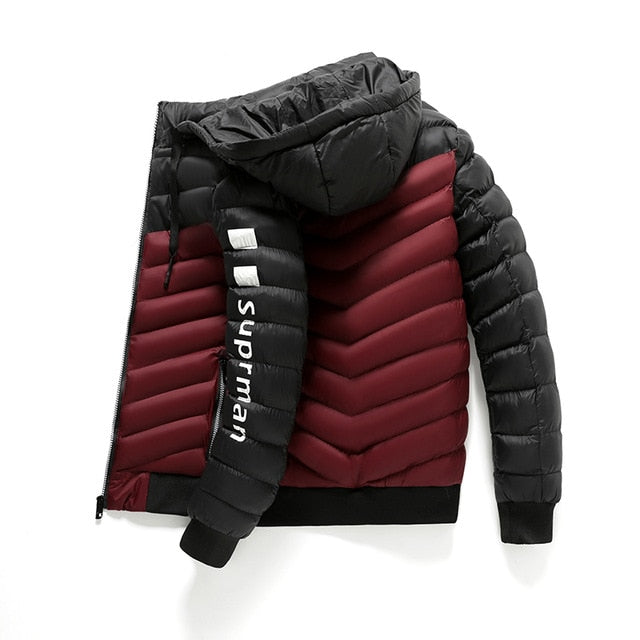 Men Winter Jacket And Coat Light Weight Fashion Thick Warm Winter Outerwear Fur Windbreak Removable Hooded Parkas