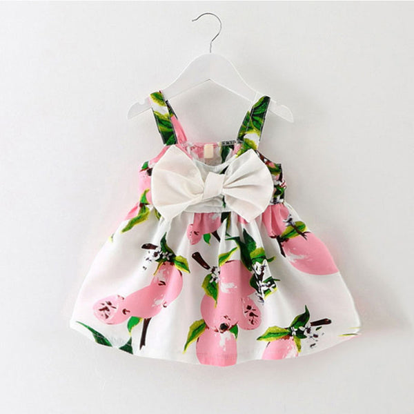 baby clothes brand design sleeveless print bow dress summer girls baby clothing cool cotton party princess dresses