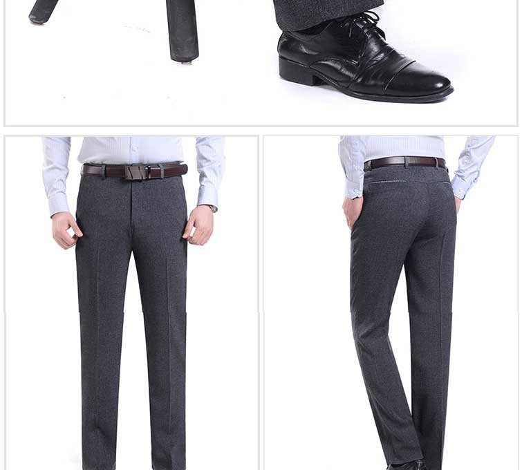 Summer Wedding Men Suit Pants Fashion Slim Fit Casual Brand Business Blazer Straight Dress Trousers