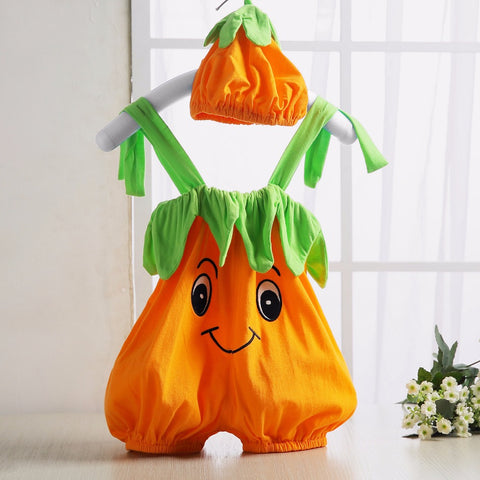 Baby Romper Pumpkin Persimmon Modeling Cute Baby Costume Sleeveless Newborn Baby Boy Girl Jumpsuit Baby Clothes