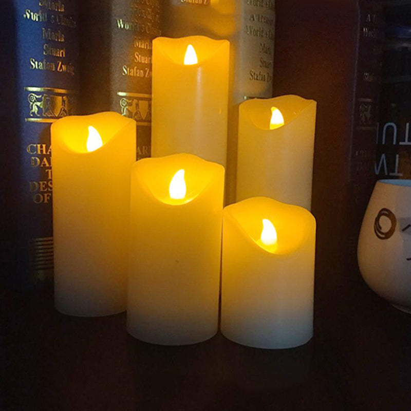 flameless LED electronic candle,Made by real wax with ficker light for party,festival light decoration and christmas candle