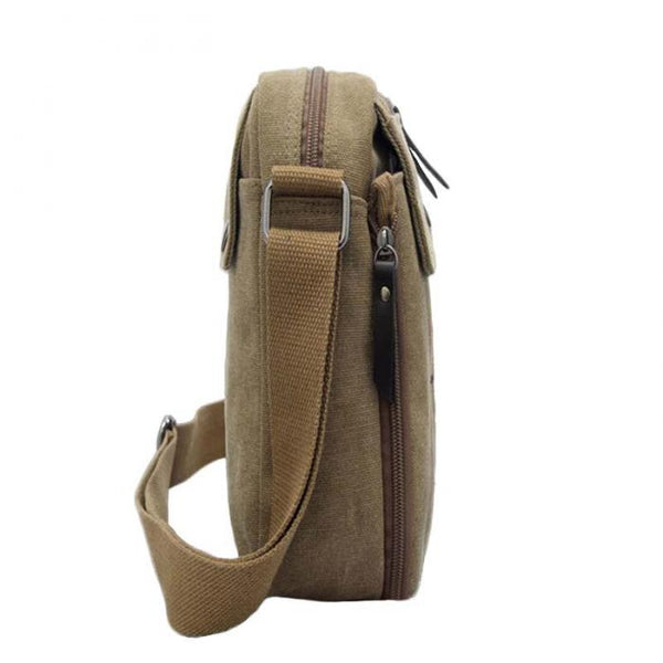 Vintage Canvas Men's Women Crossbody Bag Shoulder Messenger Bags Handbag Male Casual Zipper