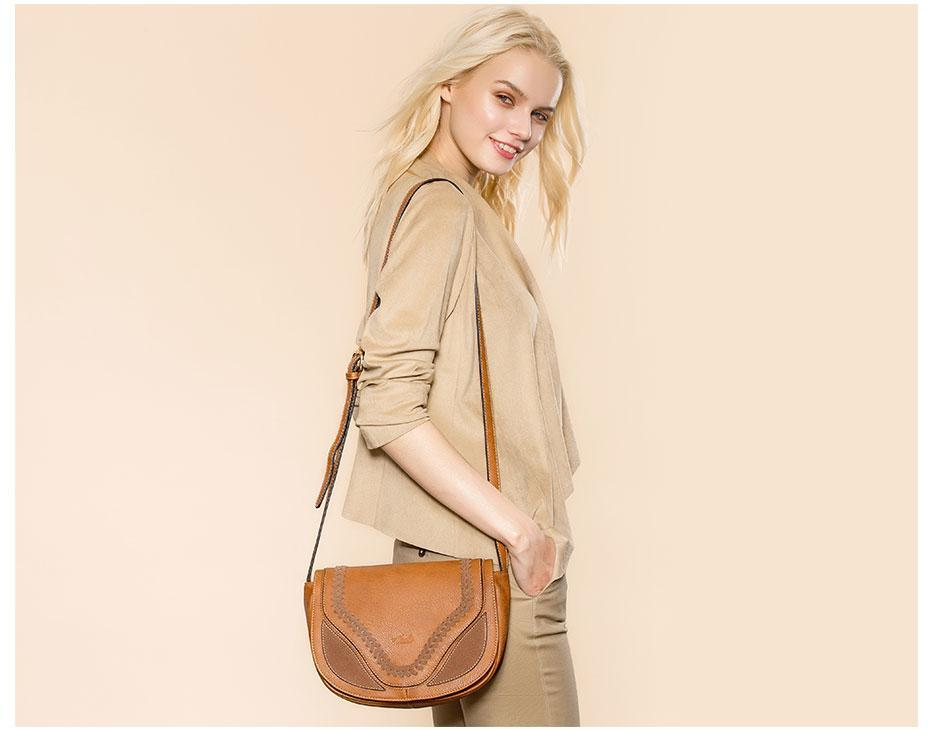 Crossbody Shoulder Bags For Women Hollow Weaving Saddle Handbags Flap Solid Soft PU Leather black