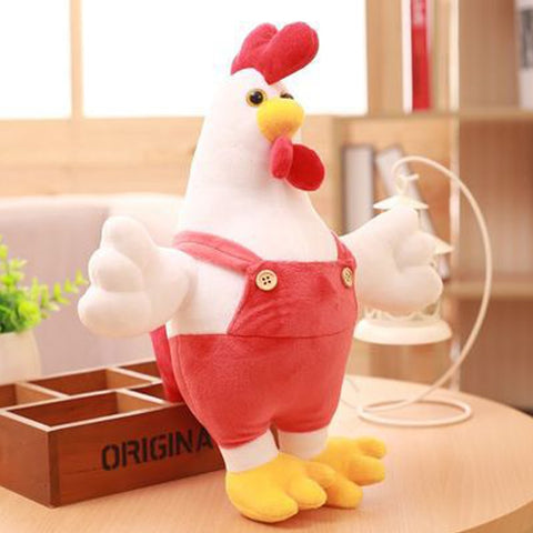 30CM Chicken Doll  & Plush Animals Children Kids Toys Cock Dolls Soft Rooster Birthday Gifts Cute Decor Pillow