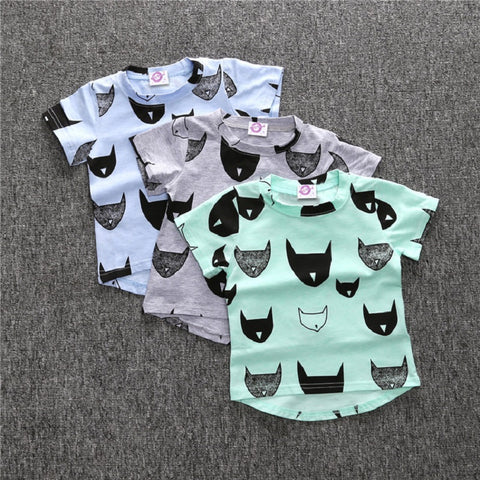 Retail Summer Fashion  boy kids clothing t-shirt cartoon batman pattern baby shirt brands short sleeve boy girl kid clothes top