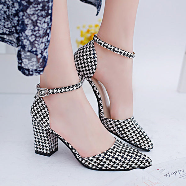 Summer High Heels Shoes Pointed Toe Pumps Women Sexy Office Ladies Fashion Wedges Platform Shoes