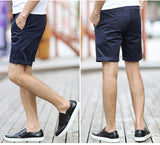 mens suit shorts Top Selling Summer Cotton Straight Men Shorts Breathable Cozy Pure Color Casual Short Pants 2016 new