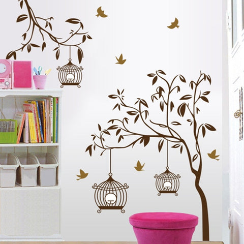 Removable Birdcage Wall Stickers Mural Art Decal for Home Sticker Bedroom Decals Living room Bedroom Stikers
