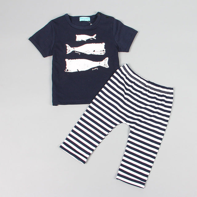 Baby Clothing Sets Summer Style Baby Girls Boys Clothes Black Letter