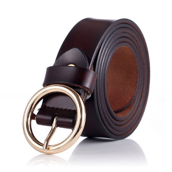 women belts cow genuine leather good quality alloy pin buckle fashion style design cinto  original brand