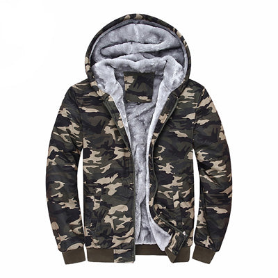 Winter Camouflage Hoodies Men Tracksuit Thick Army Spring Coats Men's Sweatshirts Fleece Male Hoodies 4XL EDA160