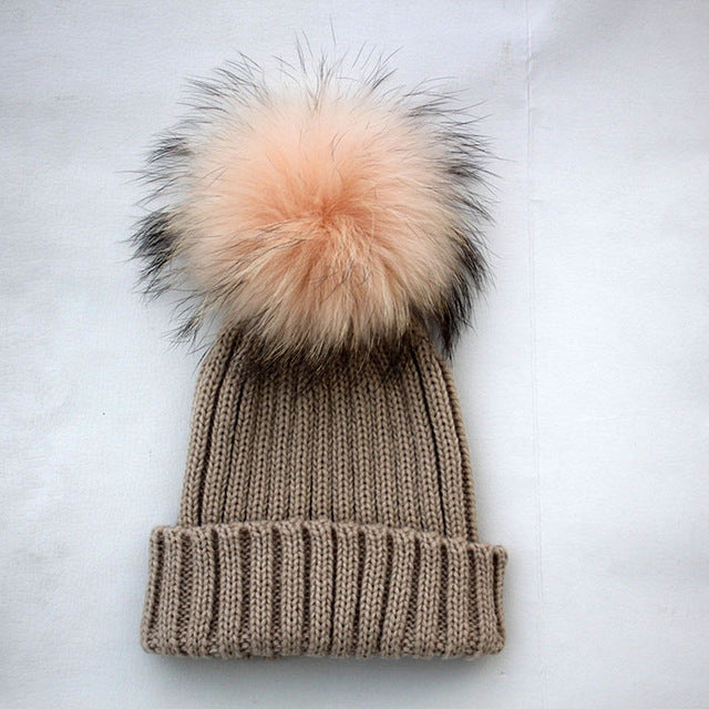 248b26f4d2ded Baby Hat Clearance Costume Beanie Hats with Fur Pelz Top Fitted Kids ...
