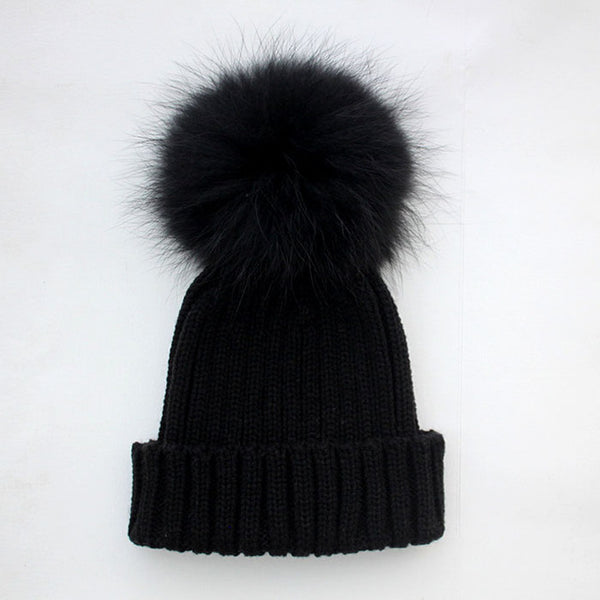 Baby Hat Clearance Costume Beanie Hats with Fur Pelz Top Fitted Kids Accessories Winter Baby Hats Caps Knit hats