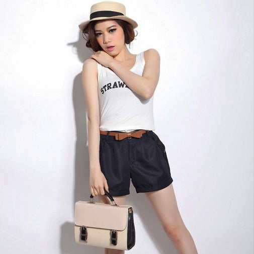New Fashion Women Summer Shorts Short Woman Casual Ladies Shorts Without  Belt  A0016