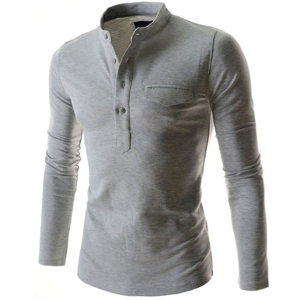 New Casual Men Shirt Long Sleeve Solid Color Slim Fit Shirt Men High Quality Cotton Mens Dress Shirts Men Clothes