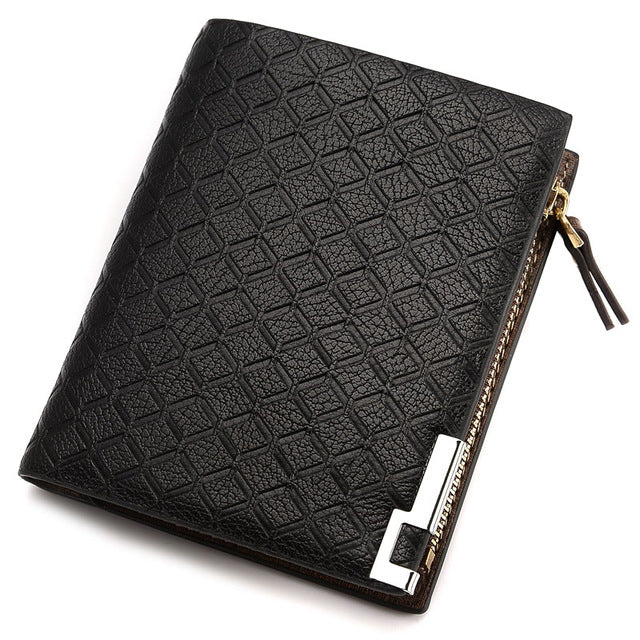 Fashion Designer leather Men wallet with coin purse Brand Coins Pocket billfold for man card holder