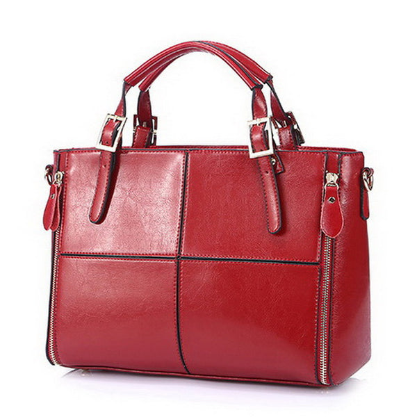 Fashion patchwork designer cattle split leather bags women handbag brand high quality ladies shoulder bags women bag WLHB974