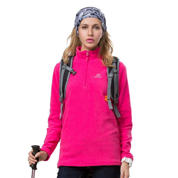 Autumn Winter Thermal Fleece Jacket Outdoor Windproof Camping Hiking Hunting Overcoat for Men and Women