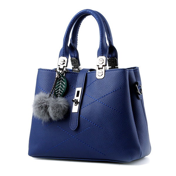 ... Fashion Tassel Women s Handbags Leather Luxury Female Top-Handle Tote  High Quality Women Shoulder ... dfaedc4ebd9d2