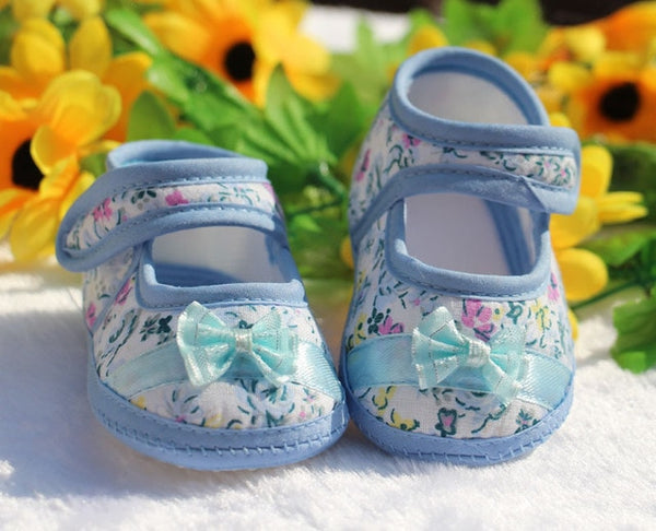 Toddler Shoes Baby First Walkers Spring Bling Bow Baby Girl Shoes with Headband Brand Fashion Newborn Shoes Infant Girls