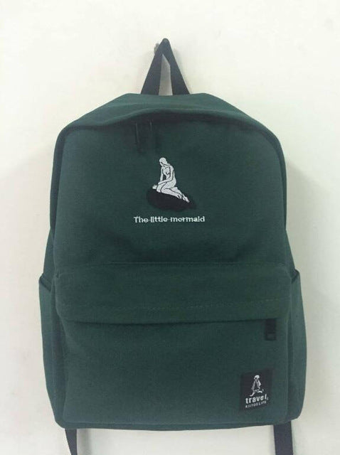 New embroidery printing backpack junior high school students shoulder bag women daily backpack casual travel bag mochila
