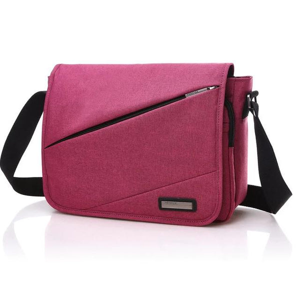 Brand Designer Unisex Men Canvas Messenger Bags Korean Style Girl Cross Body Shoulder Bags for A4 Magazine