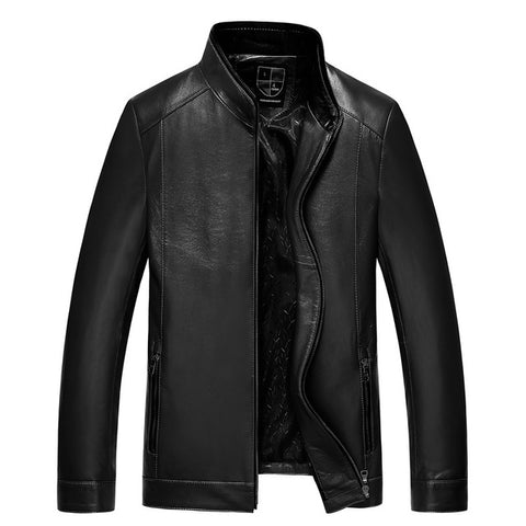 Gours Fall and Winter Men's Genuine Leather Jacket Brand Male Clothing Sheepskin Leather Jacket and Coats 2016 New Arrival 4XL