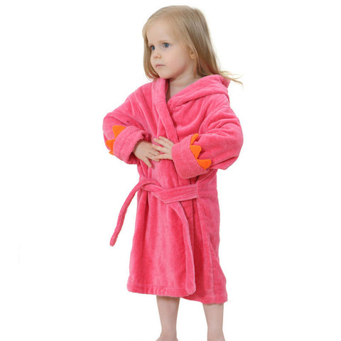 Children Cartoon Robes Animal Sleepwear for 0-8 Years Boys Girls Flannel Pajamas Baby Bathrobe kids Home wear  Romper