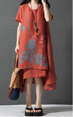 Women Casual Summer Dress Vestidos Robe Femininos Ladies loose Cotton Linen Women Dresses