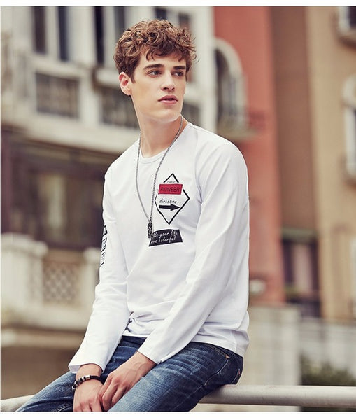 Pioneer Camp Spring Long Sleeve T Shirt Men brand clothing quality Slim Fit Men Casual Long TShirts Long-Sleeve T-Shirt men