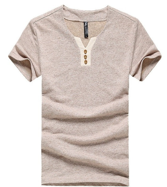 men t shirt environmental cotton hemp casual slim solid t shirts  younger thin and short sleeve