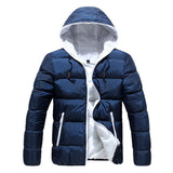 New Luxury Men's Winter Jacket Fashion Red Parka Men Hooded Down Jackets Thick Warm Coats Winter Male Coat 3XL 50