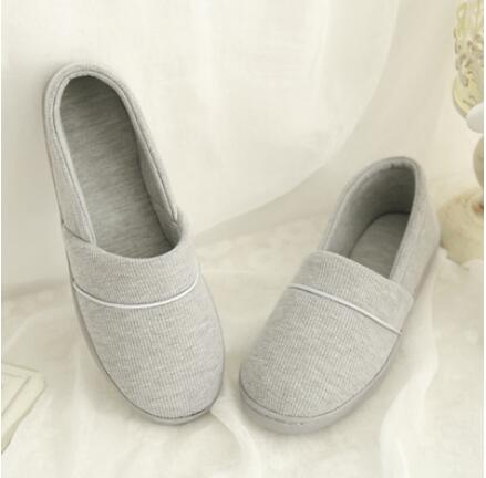 Winter-Autumn At Home Thermal Cotton-Padded Slippers Women's Cotton Slippers Indoor Slippers With Soft Outsole Shoes
