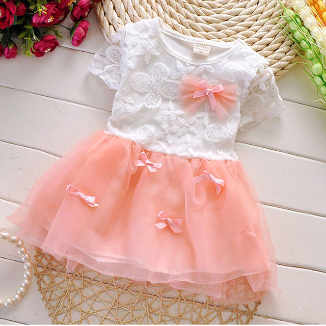 Summer Korean baby girls clothes flower dress for infant baby girls clothing birthday party princess tutu dresses costumes