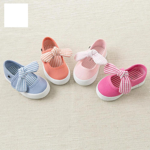 Baby spring  new striped canvas shoes blue pink rose casual shoes