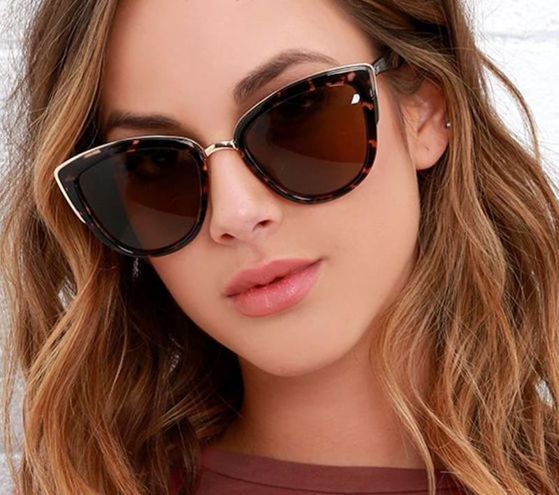 Ladies Vintage Cat Eye Sunglasses Women Luxury Brand Designer Sun Glasses For Women UV400 Gradient Shades Oculos Female 608R