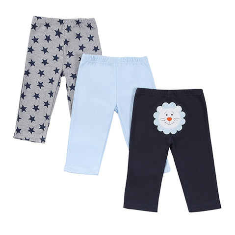 3 Pieces Baby Pants Spring&Autumn Lovely Cotton Children Pants Newborn Infant Boy Girl Pants Mother Nest Baby Clothing 0-12M