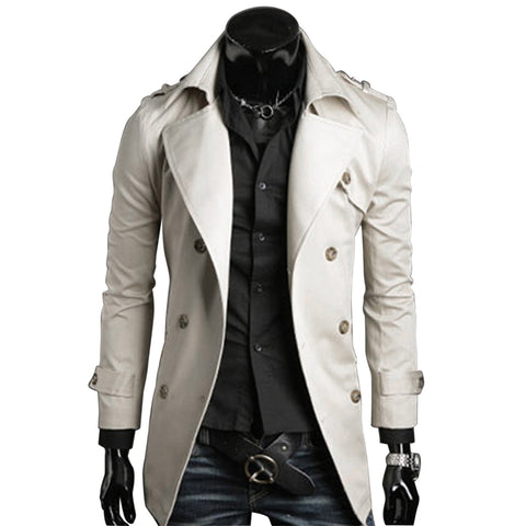 New Men Paul Jones Casacos De Inverno Feminino Couro Men Stylish Slim Double Breasted Coat Outerwear Plus Size 5576D
