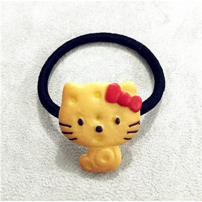 1PCS Scrunchy Girls Cute Simulated Biscuits Cartoon Shape Hair Clip Headbands Hairpins Kids Hair Clip Hair Band Hair Accessories